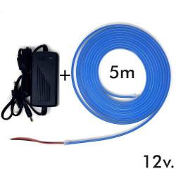 Pack Tira Neón Azul LED 6mm...