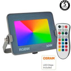 Foco Proyector RGB+W LED...