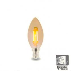 Bombilla LED Filamento Vela...