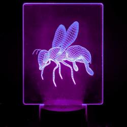 Lámpara de Mesa 3D RGB - ABEJA